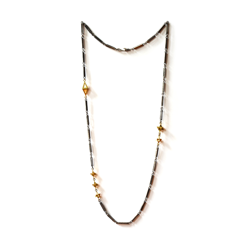Cosmos Necklace, sterling silver, 24ct gold plate, 2015