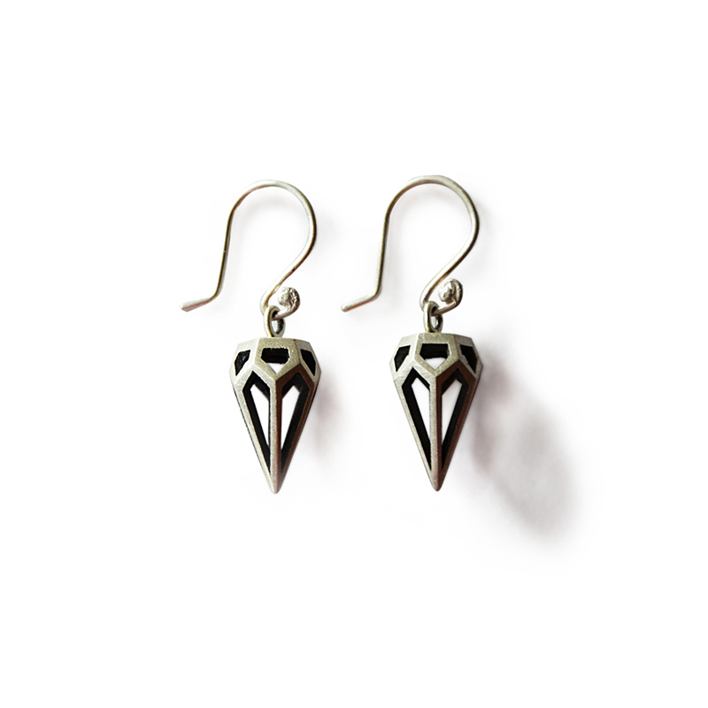 Sacred Earrings, sterling silver, 2015