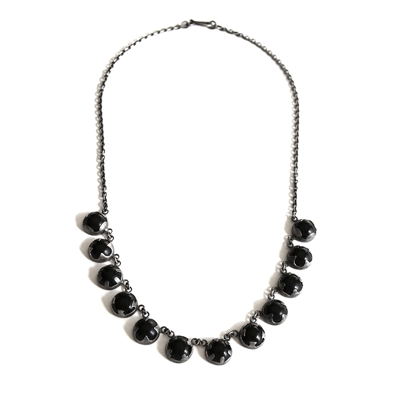 Illuminiation Necklace, onyx, sterling silver, 2014