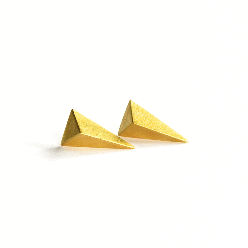 Matter Studs, sterling silver, 24ct gold plate, 2016