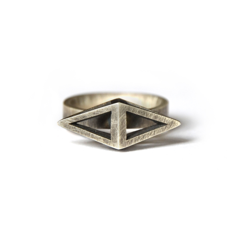 Reflection Ring, sterling silver, 2015
