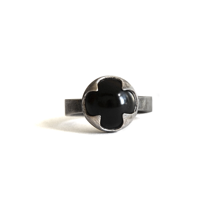 Protector Ring, onyx, sterling silver, 2014