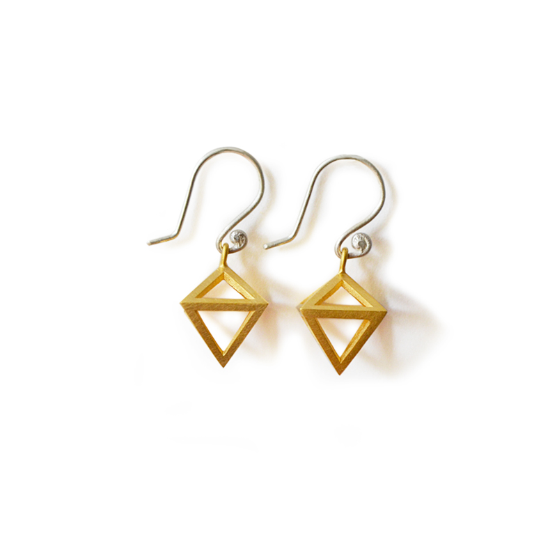 Golden Earrings, sterling silver, 24ct gold plate, 2015