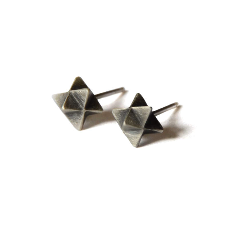 Portal Studs, sterling silver, 2015