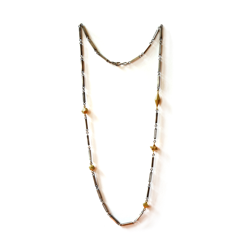 Building Blocks Necklace, sterling silver, 24ct gold plate, 2015