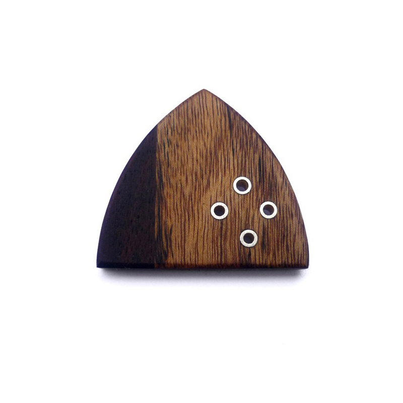 Arch, brooch, african rosewood, sterling silver, 2009