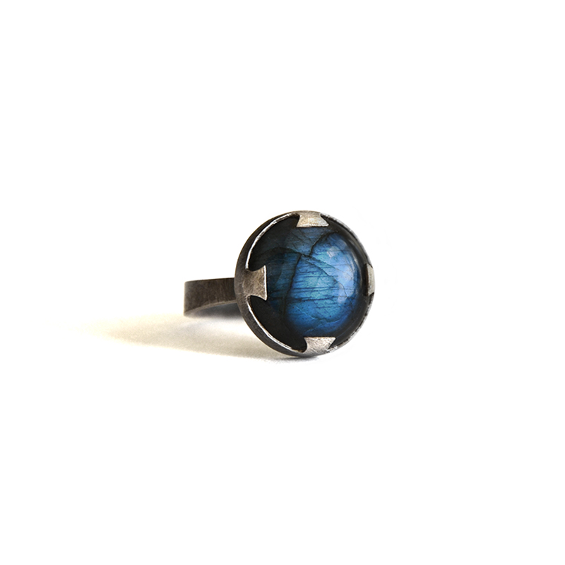 Transformer Ring, labradorite, sterling silver, 2014