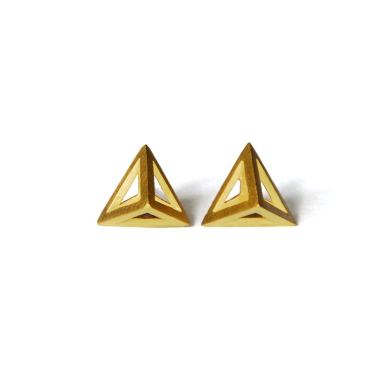 Element Studs, sterling silver, 24ct gold plate, 2015