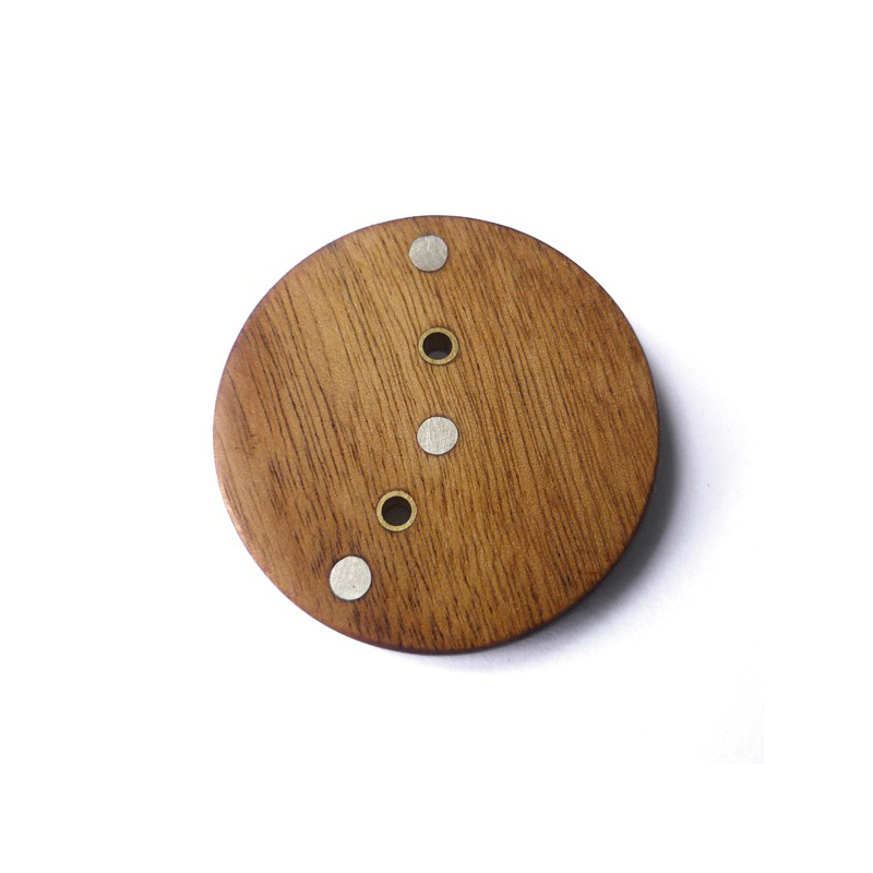 Circle, african rosewood, sterling silver, 2009Circle, african rosewood, sterling silver, 2009