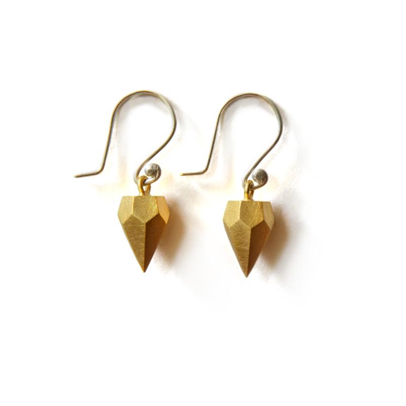 Cosmic Earrings, sterling silver, 24ct gold plate, 2015