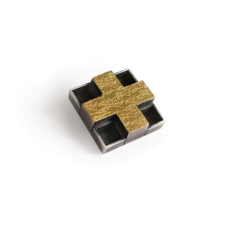 Brooch, sterling silver, 24ct gold, 2006