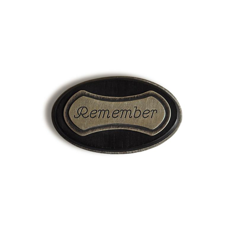 Remember, brooch, sterling silver, fine silver, ebony, 2012