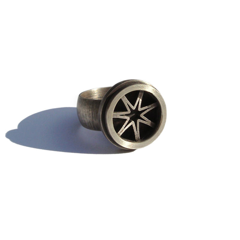 Shine Like a Star, ring, sterling silver, 2006