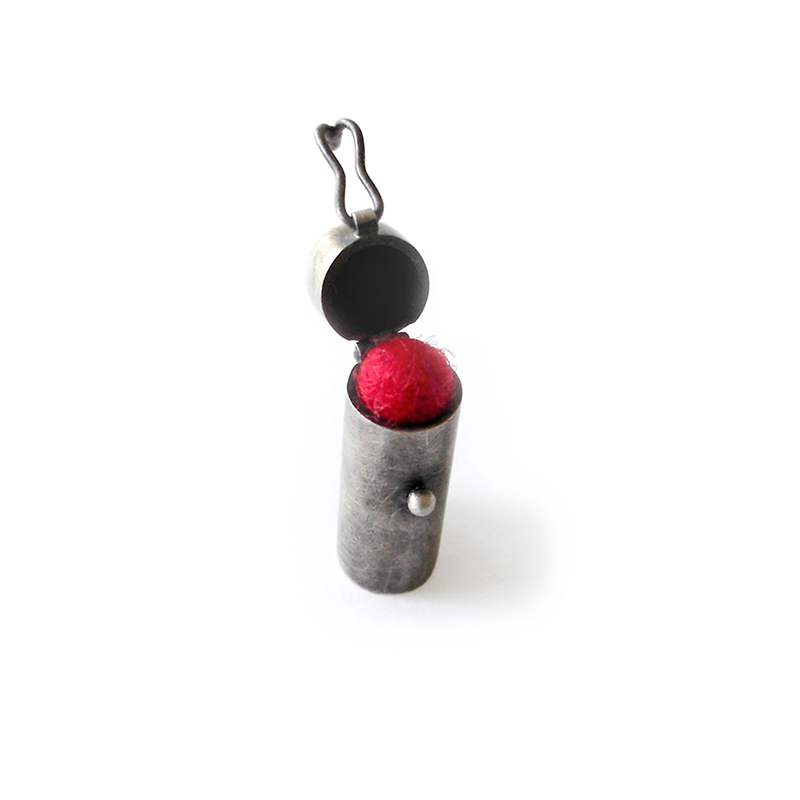 Soft on the Inside, Brooch, sterling silver, felt, 2006