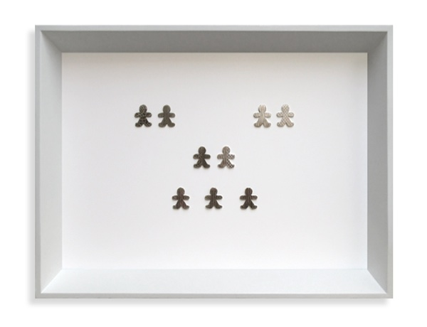 DNA, Framed collection, Oxidised Sterling silver, fine silver, lacquer. 2007