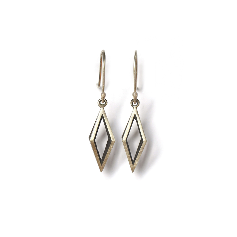 Reflector Earrings, Sterling silver, 2017