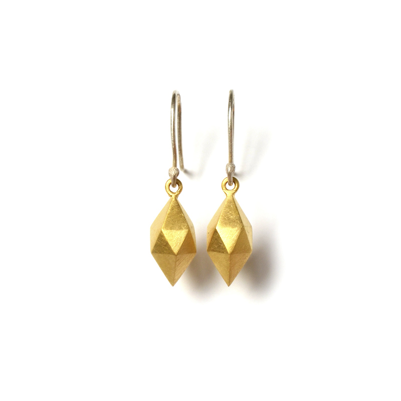 Dimension Earrings, Sterling silver and 24ct gold plate, 2017