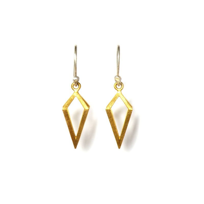 Prism Earrings, Sterling silver and 24ct gold plate, 2017
