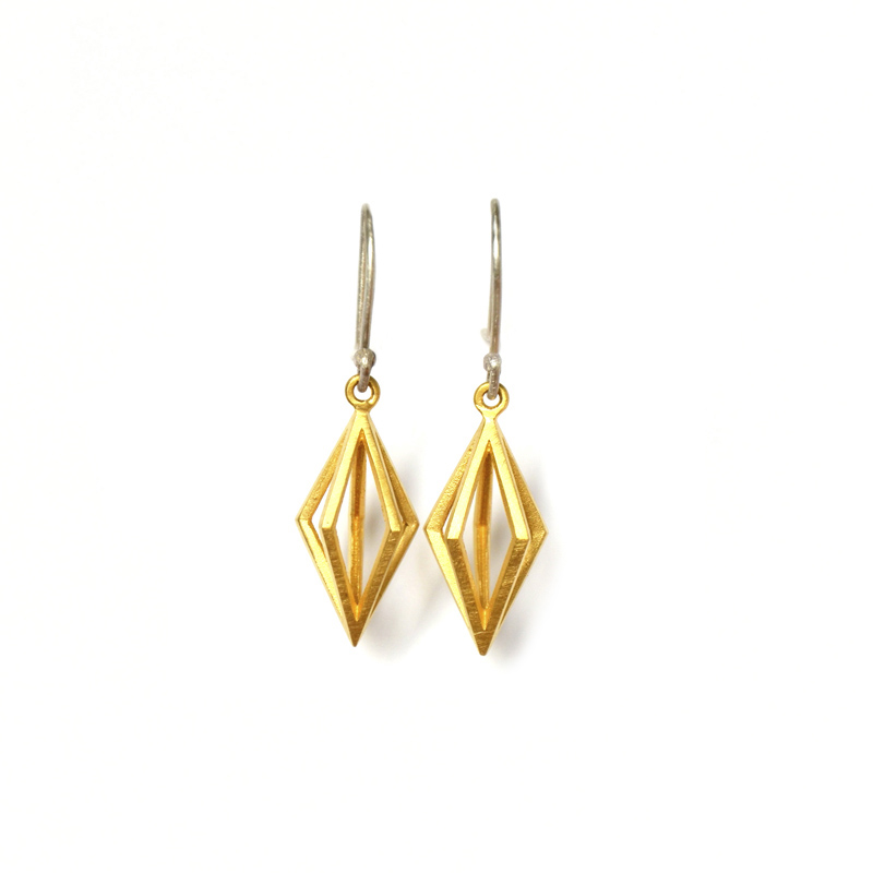 Ripple Earrings , Sterling silver and 24ct gold plate, 2017