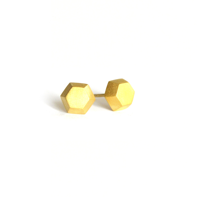Transcendent Studs, Sterling silver and 24ct gold plate, 2017