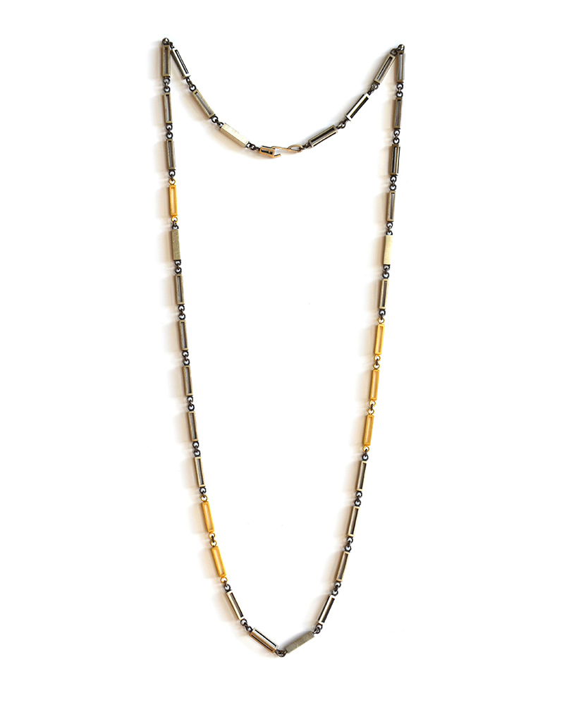 Alignment Necklace, Sterling silver and 24ct gold plate, 2017