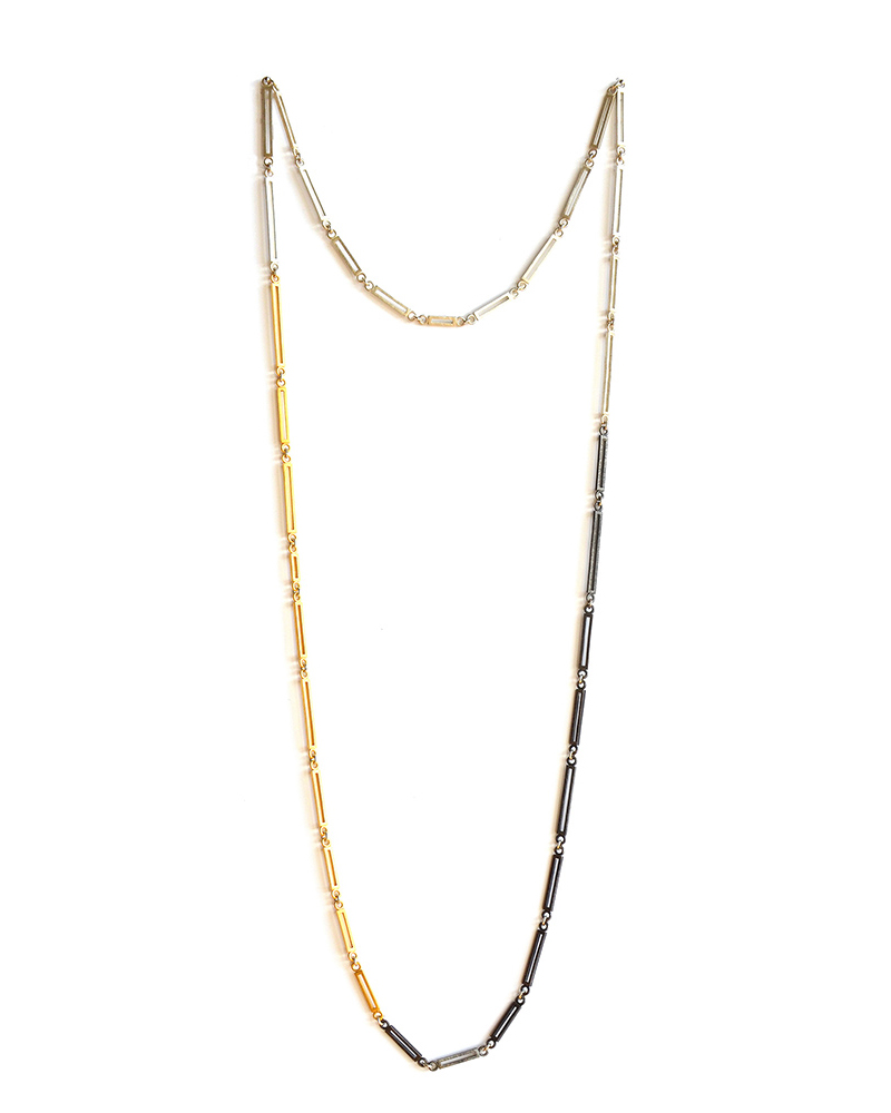 Trinity Necklace , Sterling silver and 24ct gold plate, 2017