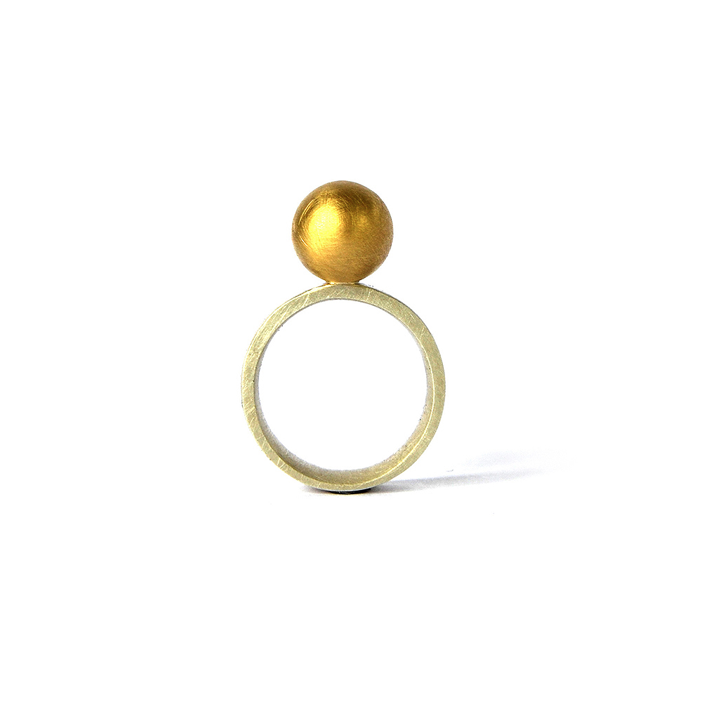 Source Ring, sterling silver, 18ct gold. 2018