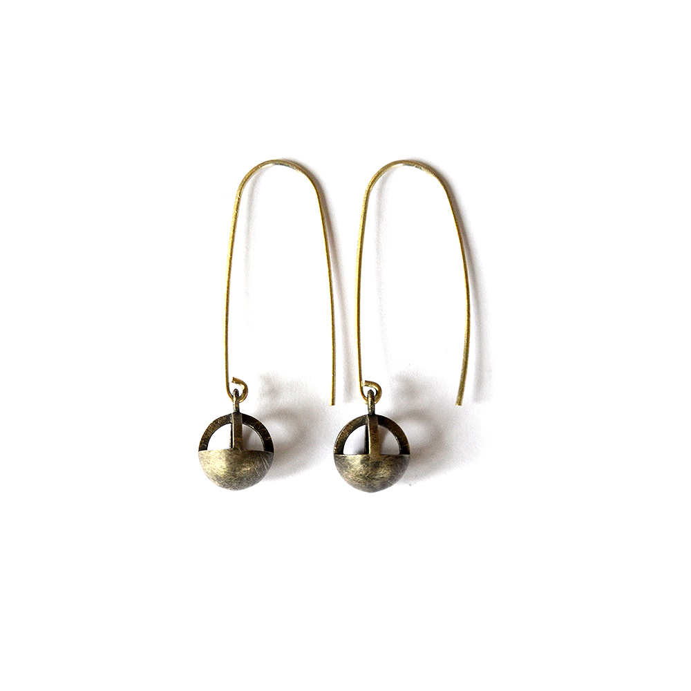 Mirror Earrings, Sterling Silver, 2018