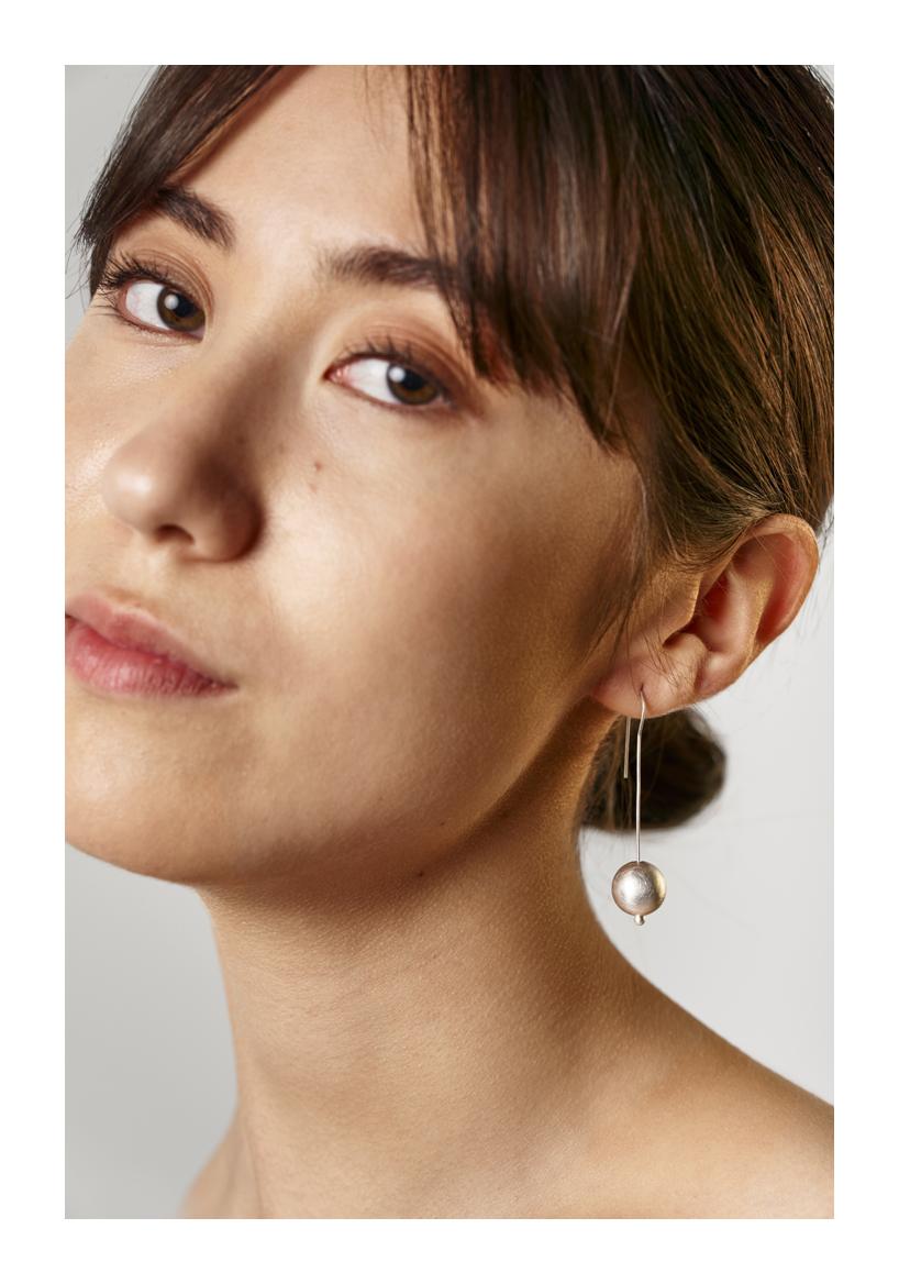 Moon Earrings, sterling silver, 2018, Kate Alterio