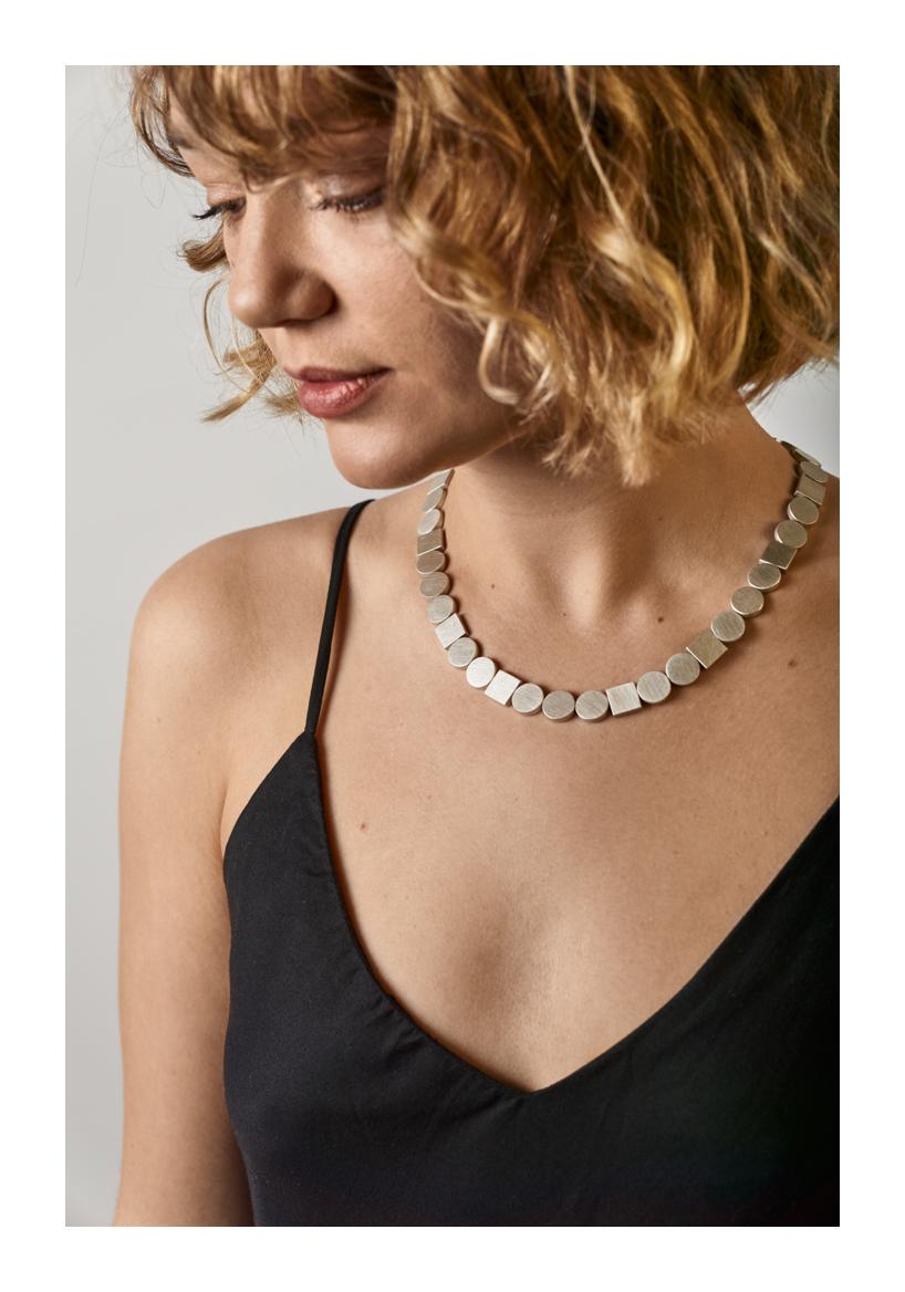Shoulder To Shoulder Necklace, sterling silver, 2020, Kate Alterio