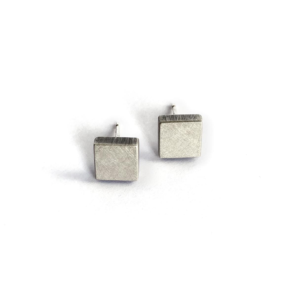 Four Corner Studs, silver, 2020, Kate Alterio